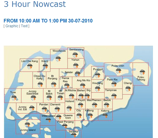 NEA forecast: Heavy downpours over entire Singapore from 10am to ...